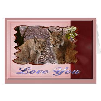 siberian-lynx-00542 tarjeta de felicitación
