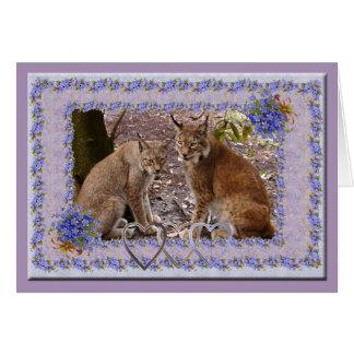 siberian-lynx-00548 tarjeta de felicitación