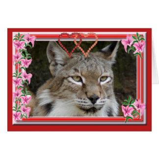 siberian-lynx-00551 tarjeta de felicitación