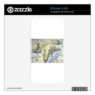 Siberian Sheepdogs by Franz Marc Skins For The iPhone 4