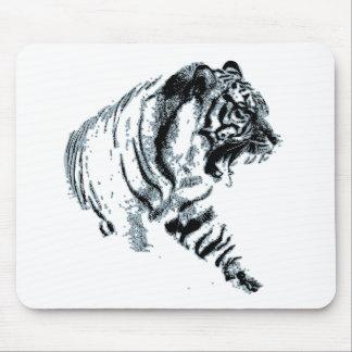 Siberian Snow Tiger Mouse Pad