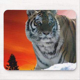 Siberian Sunset Tiger Animal-Lover Wildlife Art Mouse Pad