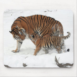 Siberian Tiger and Cub Mouse Pads