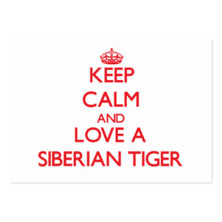 Siberian Tiger Business Card Templates
