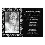 "Siberian Tiger Christmas Party Invitation 5"" X 7"" Invitation Card"