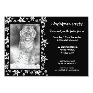 Siberian Tiger Christmas Party Invitation