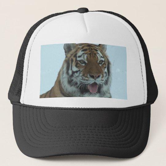 Siberian Tiger Close Up Face 2 Trucker Hat