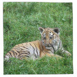 siberian tiger cub printed napkins