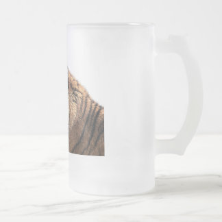 Siberian Tiger Frosted Beer Glass Frosted Glass Beer Mug