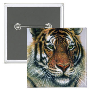 Siberian Tiger head Buttons