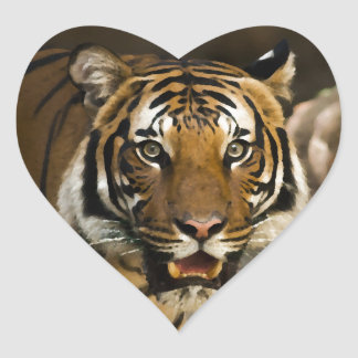 Siberian Tiger Heart Sticker