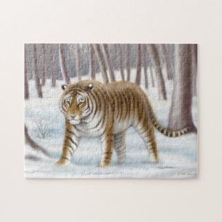 Siberian Tiger in Winter Puzzle
