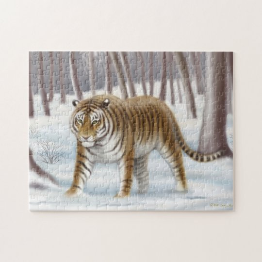 Siberian Tiger in Winter Puzzle