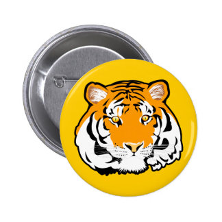 Siberian Tiger Keychain & Button