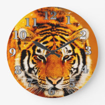 Siberian Tiger Large Clock