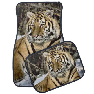 Siberian Tiger Lovers Art Car Floor Mat