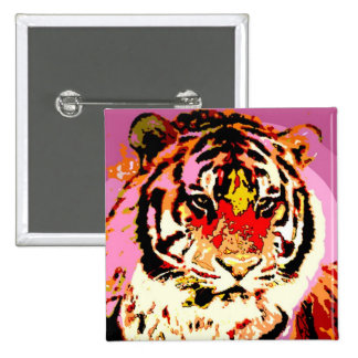 Siberian Tiger Pinback Button