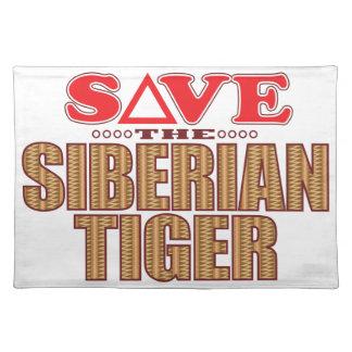 Siberian Tiger Save Cloth Placemat