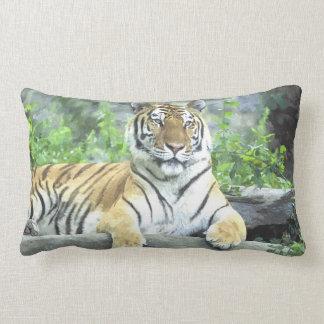 Siberian Tiger Watercolor Pillow! Lumbar Pillow