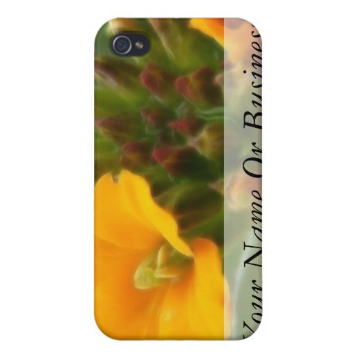 Siberian Wallflower Buds And Flower Cover For iPhone 4