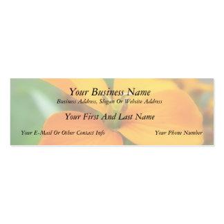 Siberian Wallflower - Cheiranthus allionii Business Card Template