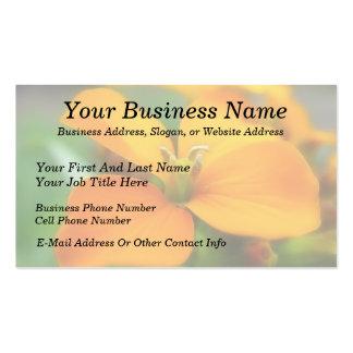 Siberian Wallflower - Cheiranthus allionii Business Card Templates