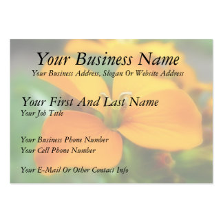 Siberian Wallflower - Cheiranthus allionii Business Card