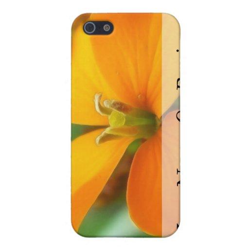 Siberian Wallflower - Cheiranthus allionii iPhone 5 Cases