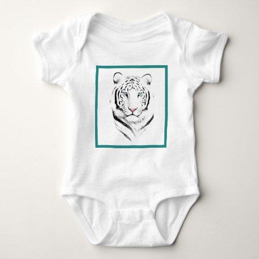 Siberian White Tiger Baby Bodysuit