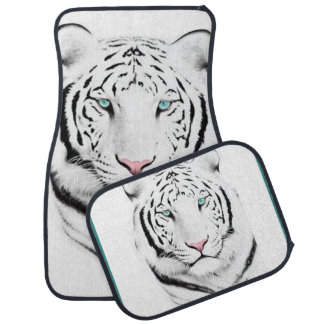 Siberian White Tiger Car Mat