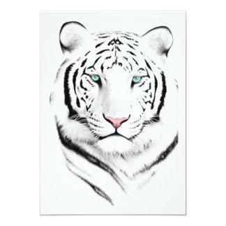 Siberian White Tiger Card