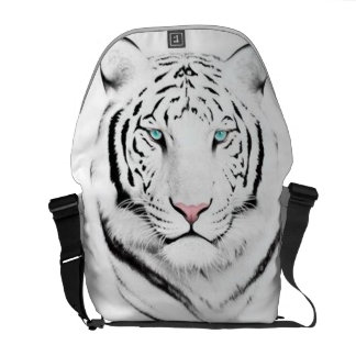 Siberian White Tiger Courier Bag