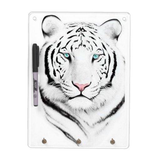 Siberian White Tiger Dry-Erase Board
