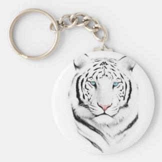 Siberian White Tiger Keychain