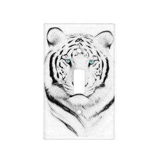 Siberian White Tiger Light Switch Plate