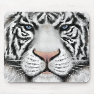Siberian White Tiger Mouse Pad