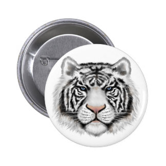 Siberian White Tiger Pinback Button