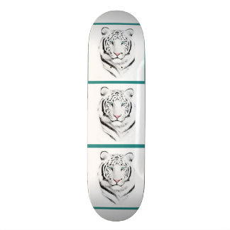 Siberian White Tiger Skateboard Deck