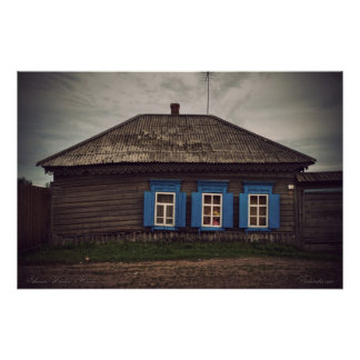 Siberian wooden houses (project by vladstudio.com) posters