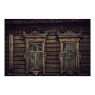 Siberian wooden houses (project by vladstudio.com) poster