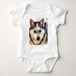 siberianHuskieSachaFull.jpg Baby Bodysuit