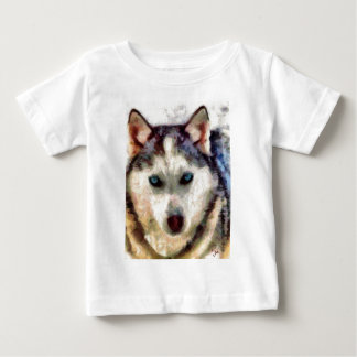 siberianHuskieSachaFull.jpg Baby T-Shirt
