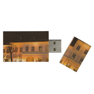 Sibiu at night architecture wood USB 2.0 flash drive