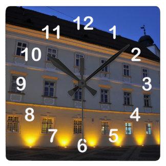 Sibiu at night wall clock