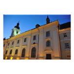Sibiu at night photo print
