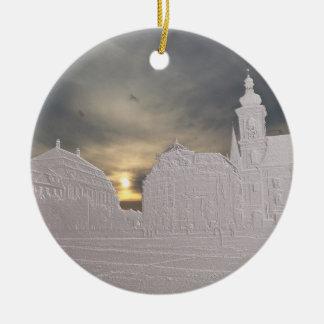 Sibiu basrelief christmas ornament