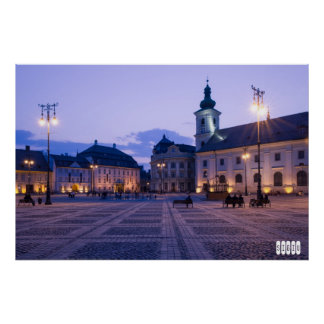Sibiu by night poster