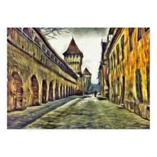 Sibiu Carpenter's tower painting Large Business Card