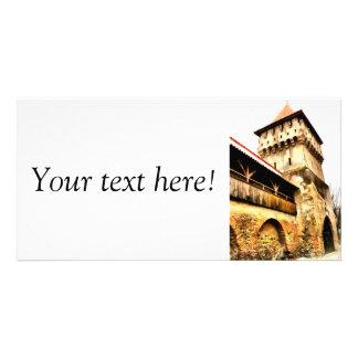 Sibiu Carpenter's tower painting Customized Photo Card