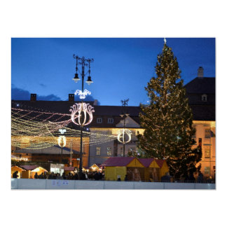 Sibiu Christmas tree Custom Invitations